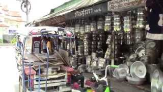 Mukdahan Thailand  city images : A street view in Mukdahan, Thailand #2 of 2 : go-around the down town