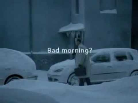 Ad Car Snow Statoil Free Coffee Funny Commercial
