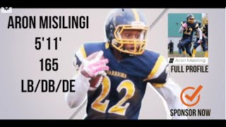 Aron Masalingi (LB/SB) Class 2018 - \\\'15 Highlight Video