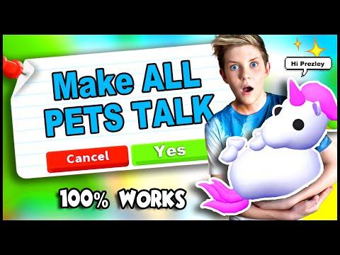 HACK To Make YOUR PETS TALK in Adopt Me!! 100% WORKING TIK TOK HACKS! Roblox Adopt Me PREZLEY