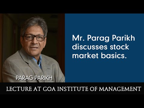 stock markets - Mr. Parikh discusses stock market basics, how manipulations take place, market bubbles etc.