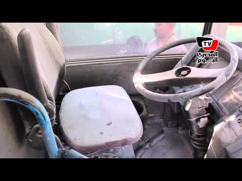 مساعد وزير الداخلية يتفقد حريق أتوبيس نقل عام بعبد المنعم رياض
