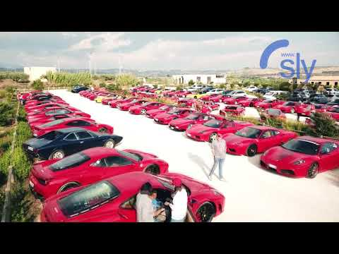 Аэросъемка на Сицилии. Съемка 100 автомобилей Ferrari в Италии, РБК.