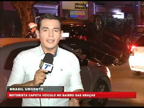 [BRASIL URGENTE PE] Motorista capota veículo no bairro das Graças
