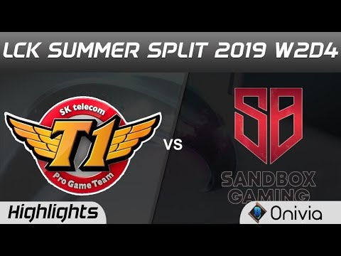 SKT Vs SB Highlights Game 1 LCK Summer 2019 W2D4 SK Telecom T1 Vs SANDBOX Gaming LCK Highlights By O