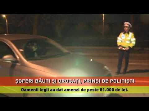 Şoferi băuți, drogați și fără permis, prinși de polițiști în Capitală