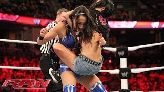 The Bella Twins vs. AJ Lee & Tamina: Raw, March 10, 2014
