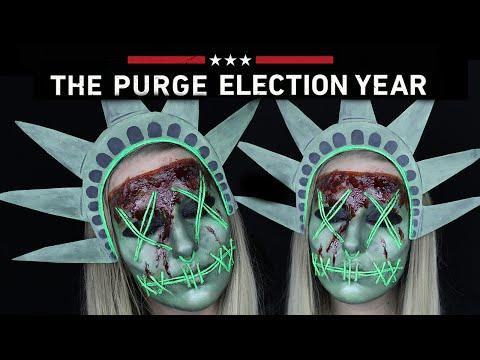 The Purge Lady Liberty Halloween Makeup Tutorial | THE PURGE MINI SERIES