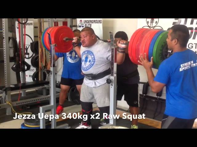 Jezza Uepa 793 Lb/360 Kg Squat – No Wraps