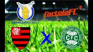 Flamengo x Coritiba ao vivo 22/07/17, Flamengo ao vivo, Coritiba ao vivo, Futebol ao vivo, Parciais Cartola FC, Brasileirão 2017,...