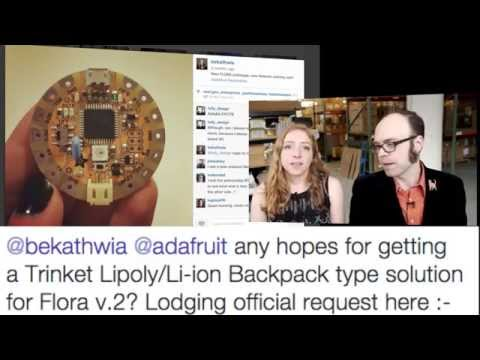 Wearable Electronics with Becky Stern 4/8/2015 – LIVE