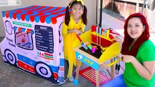 Video Wendy Pretend Play Cooking with Food Truck Tent & Wooden BBQ Grill Toys download in MP3, 3GP, MP4, WEBM, AVI, FLV January 2017