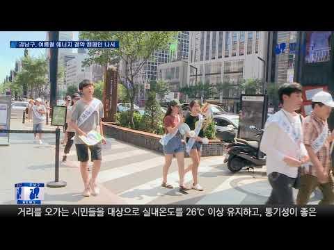 강남구, 여름철 에너지절약 캠페인 실시
