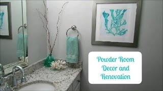 Powder Room Decor and Renovation | Before and After