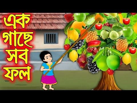 এক গাছে সব ফল | Ak Gache Sob Fol | Bangla Cartoon | Bengali Morel Bedtime Stories