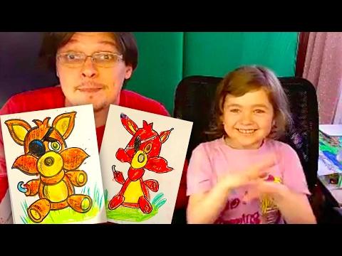 How to draw Foxy / Как нарисовать Фокси / FNAF на РыбаКит с Катей