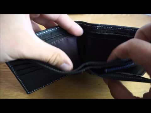 Cartera de piel para hombre / Men Business Genuine Leather Black