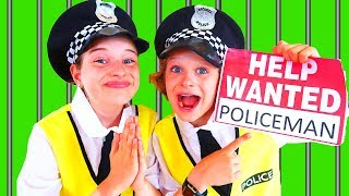 NEW POLICEMAN WANTED!! Kids try out to be a policeman | Pretend Play with The Norris Nuts