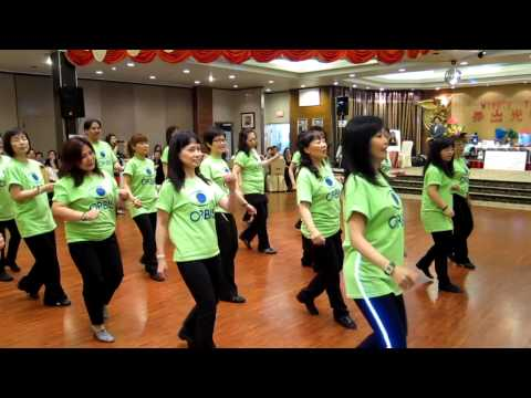 Merengue For Your Eyes ~ Winnie Yu – Line Dance performanced video 1 @ 2013 Orbis Winnie Yu 舞出光明夜