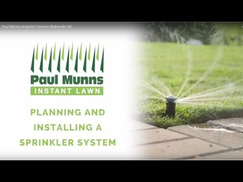 Paul Munns  - How to install a Pop Up Sprinkler System