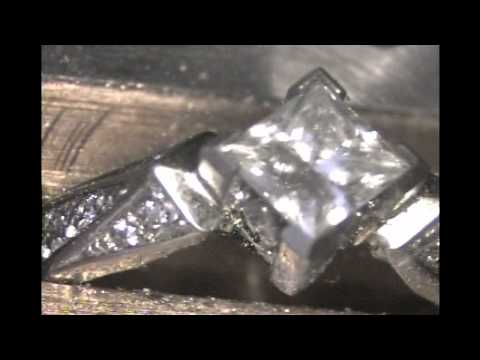 Setting a Princess Cut Diamond