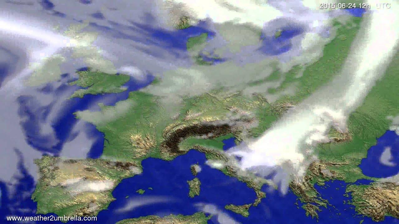 Cloud forecast Europe 2015-06-21
