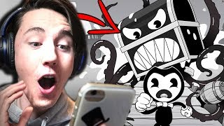 BENDY IS ON MOBILE?! (WE BEAT THE GAME) || Bendy In Nightmare Run