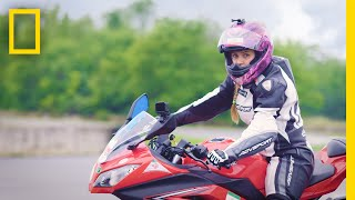 Iranian Motorcyclist Continues to Race Despite Her Country's Ban | National Geographic