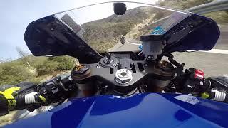 9. Yamaha R1 chasing fast Fj 09 at angeles crest highway 2