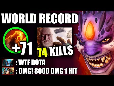WTF NO LIMIT - WORLD RECORD 71 Stack 8000Dmg COMBO 7.20 META Craziest Fun Lion Dota 2 Gameplay