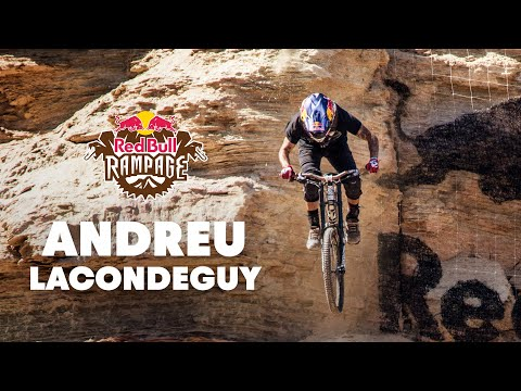 Red - CLICK for more Rampage 2014 videos: http://win.gs/1pdRlUG Check out the GoPro footage of Andreu Lacondeguy's winning mountain bike run at Red Bull Rampage 2014. _ Experience the world of Red...