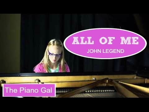 Video All of Me - John Legend - The Piano Gal | Sara Arkell download in MP3, 3GP, MP4, WEBM, AVI, FLV January 2017