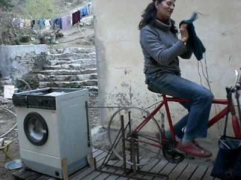 New Invention - Bicycle powered washing machine