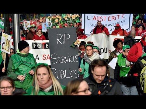 Χιλιάδες εργαζόμενοι σε υγεία και πρόνοια διαδήλωσαν στις Βρυξελλών