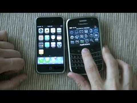 Blackberry Bold Side by Side with the iPhone