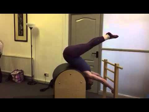Pilates Barrel Shoulder Stand