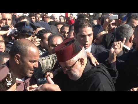 بكاء ابن كيران بجنازة الفقيد عبد الله بها