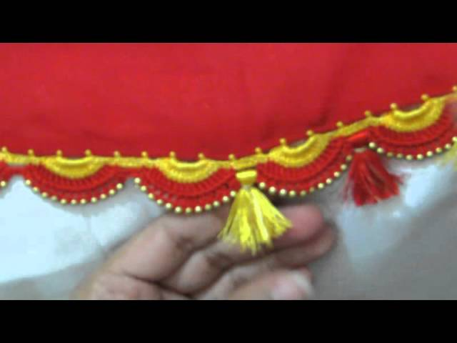 Krosha Designs : Saree Krosha Kuchu Designs How to do saree kuchu with beads design 4 ...