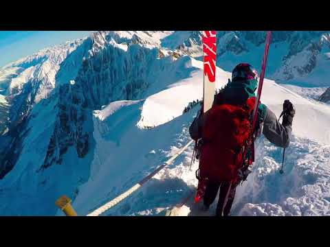 Chamonix offpiste skiing, January 2018