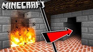 Easy & Hidden SECRET FIREPLACE ROOM in Minecraft