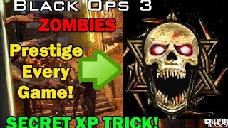 ♔SUBSCRIBE! for the FRESHEST! B03 Zombies Videos!♔Support the video by spending 1 second clicking the 'Like' Button!Thanks :)FOR ★VIP★ ACCESS TO ALL MY GLITCH VIDEOS LIKE! MY FACEBOOK PAGE!http://www.facebook.com/applemasteredUsing This Trick method in the game you will be able to get to max rank if you got to a really high round and prestige super fast! in Black ops 3 ZombiesIF THIS HELPED YOU HIT THE LIKE BUTTON AY!Enjoy :)