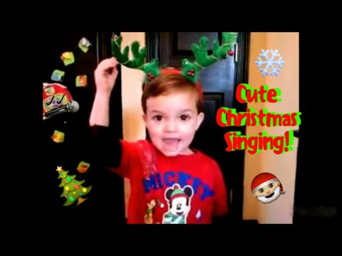 2 year old singing Christmas songs