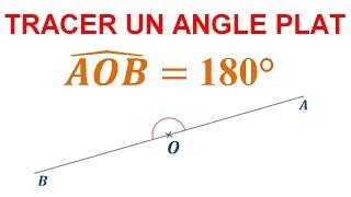 Maths 6ème - Les Bases De La Géométrie : Angle plat Exercice 13
