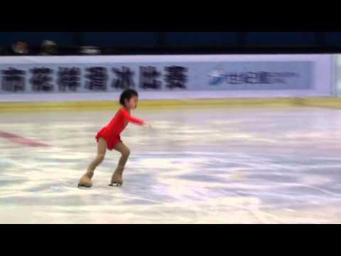 Nini An, 5 years old super figure skater!  Free skating Beijing FS Cham 2012