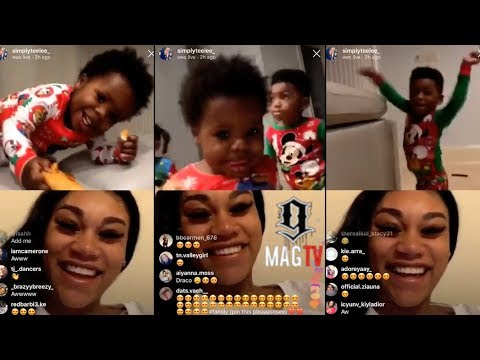 Pregnant Ex-Jania Talks To NBA Youngboy Other Kids On IG Live! 😳
