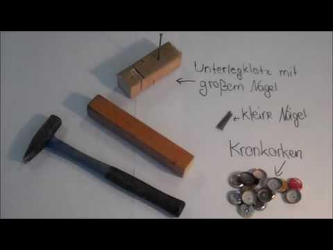2013 Bastelvideo: Kronkorkenrassel