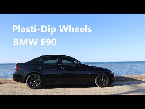 Plasti Dipping BMW E90 330i Stock Rims (Fix road rash)