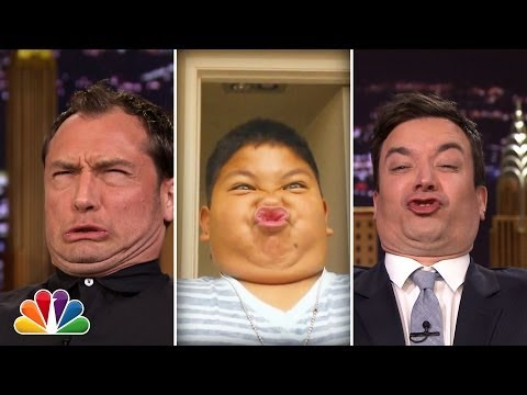 Jimmy Fallon And Jude Law Have A Funny Face Off