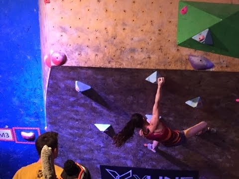 Alex Puccio crushes Men's #3 Problem @ 2015 Petzl Di'namik Bouldering Comp @ The Front SLC