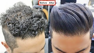 Download Lagu CURLY TO STRAIGHT Hair TUTORIAL. All About keratin 2017 [ A SMOOTH NATURAL HAIR FOR MEN ]✔️ Mp3